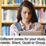 Silent, quiet or group study zones