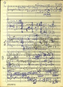 The image on the poster/postcard is from Raymond Hanson's manuscript sketches for The Immortal Touch (c. 1970s). Raymond Hanson (1913-1976) was a composer and music educator who taught composition at the Conservatorium from the late 1940s until the 1970s.