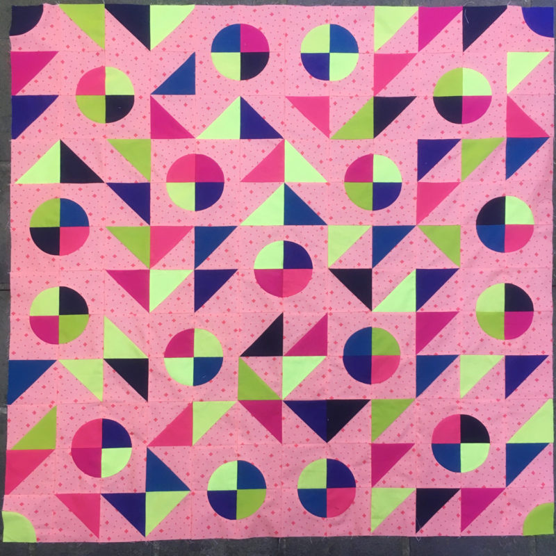 colourful quilt cover