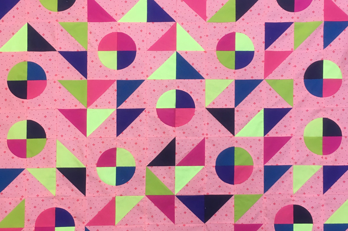 section of quilt designed and made during COVID-19