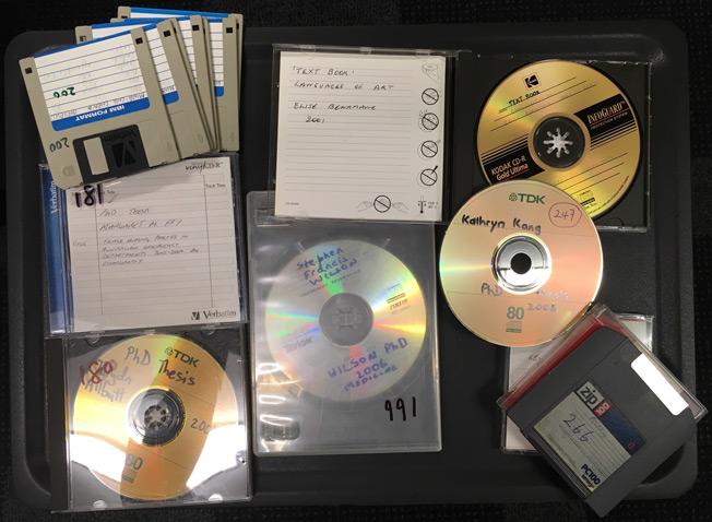 Older storage media such as CDs, zip drives, floppy disks