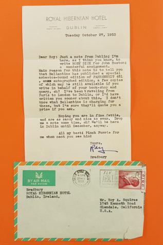 Letter from Ray Bradbury