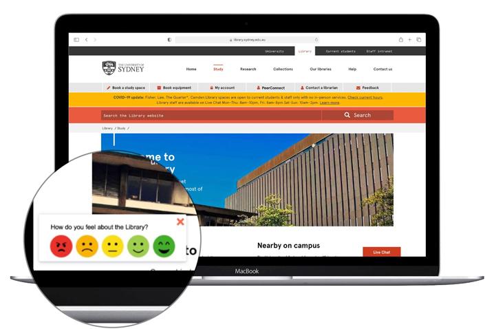 image of Library website feedback module