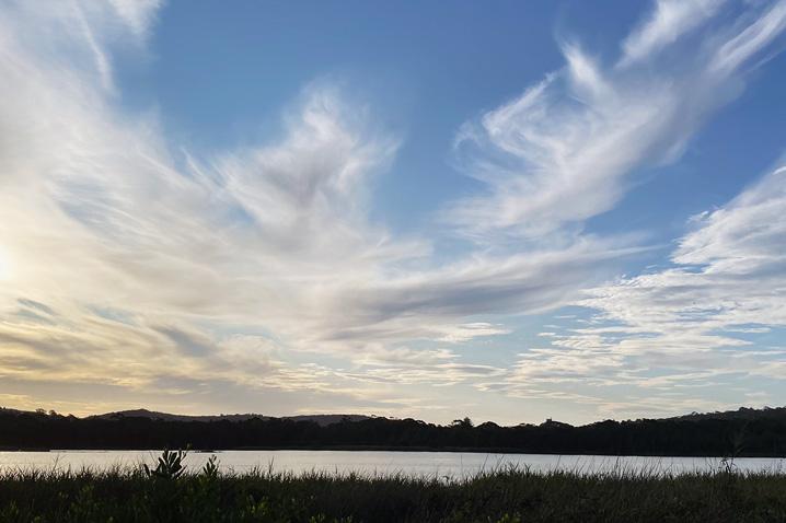 Australian landscape featuring beautiful clouds